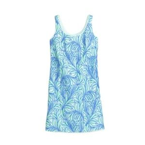 Kate Spade Blue Sea Ferns Sequin Night Out Dress